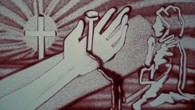 主耶稣基督的手沙画版